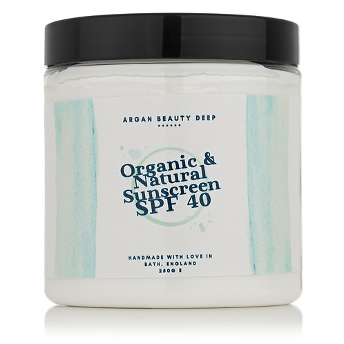 Sunscreen 40SPF/Handmade/Organic/NON-Nano Zinc Oxide/ Protects your skin