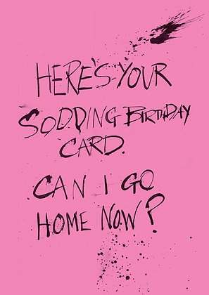 rude and sarcastic birthday card