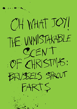 funny brussels sprouts christmas card