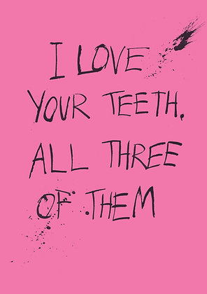 rude birthday card about teeth
