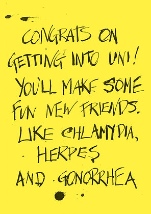 funny congratulations university card