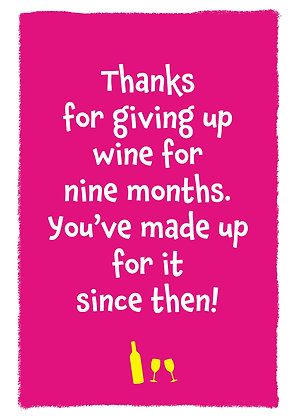 Giving up wine
