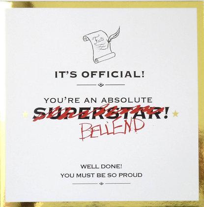 it's official you're bellend gold foil