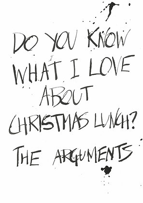 christmas lunch joke about arguments