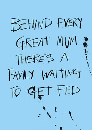 funny card about a great Mum and her family