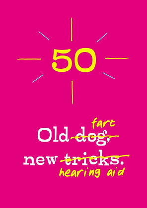 hilarious joke about farting at 50 age milestone birthday card