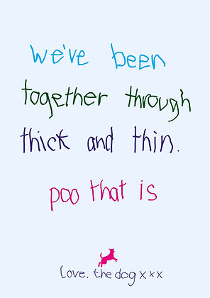 Thick and thin poo