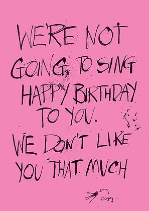 rude happy birthday song card