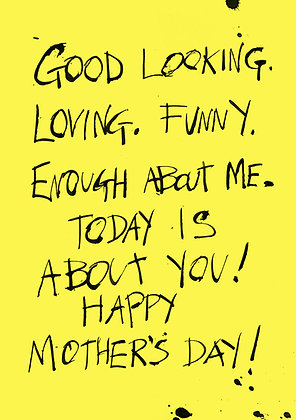 Loving and funny Mother's Day card