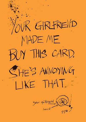annoying love card