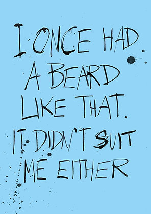 sarcastic birthday card about beards