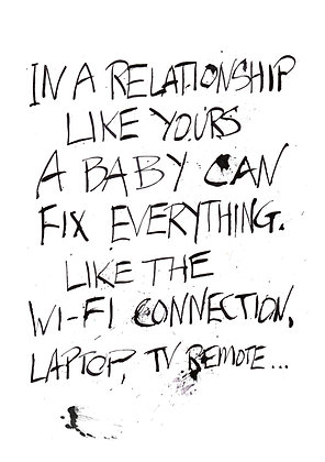 a baby can fix everything like wi-fi connection