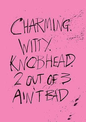 rude knobhead birthday card