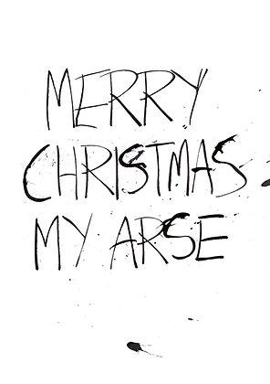 rude merry Christmas my arse card