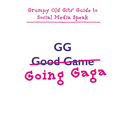 GG good game funny going mad greeting card