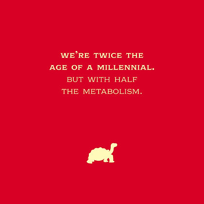 millennials with half the metabolism joke