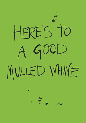 Funny card about Christmas mulled wine