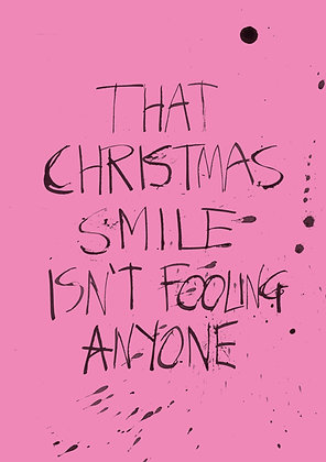 funny christmas smile card