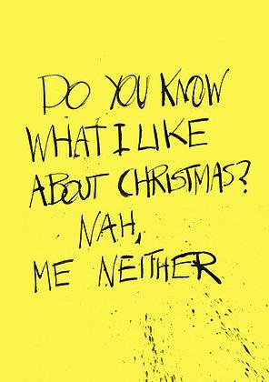 joke card about a shitty Christmas