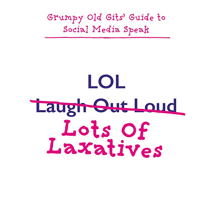 LOL laugh out load funny laxatives greeting card