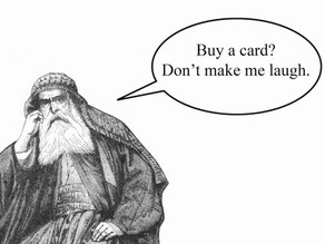 Why men can't be arsed to buy cards.