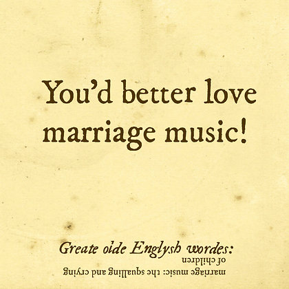 marriage music old english word for children kids
