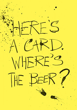 funny card about beer