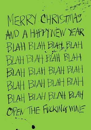 merry christmas blah blah blah card