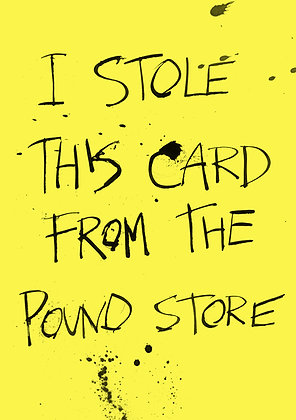 funny pound store joke card
