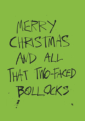 rude Christmas card and all that bollocks