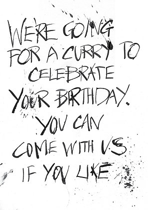 going for a curry to celebrate your birthday