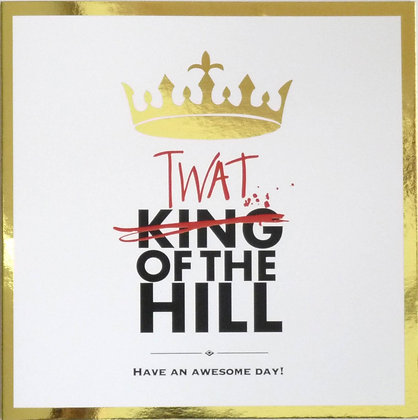 funny king of the hill gold foil card