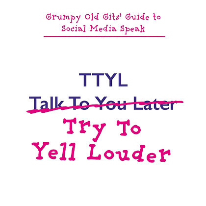 TTYL talk to you later funny deafness greeting card