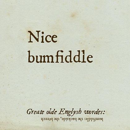 bumfiddle old english word for bottom backside