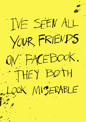 funny birthday card about facebook friends