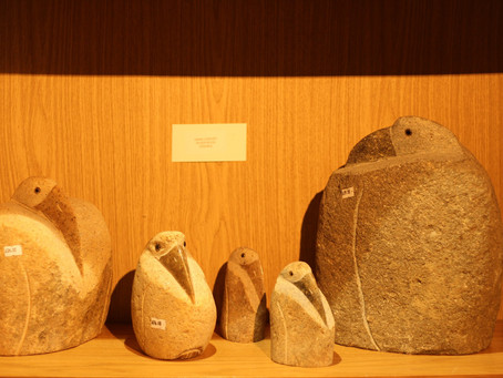 New in, hand carved River Rock Cranes