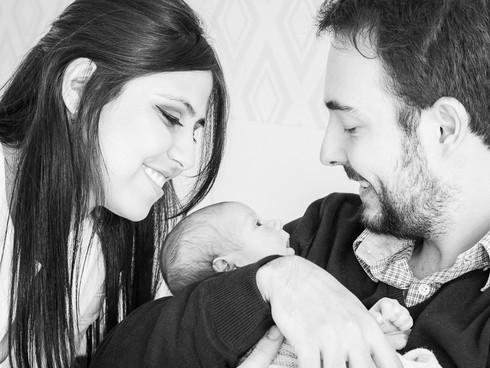 ensaio newborn com os pais