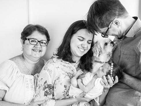 book newborn com a familia