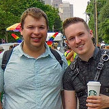 Bradley Cox meets Steven Binko at Ohio Pride in 2018