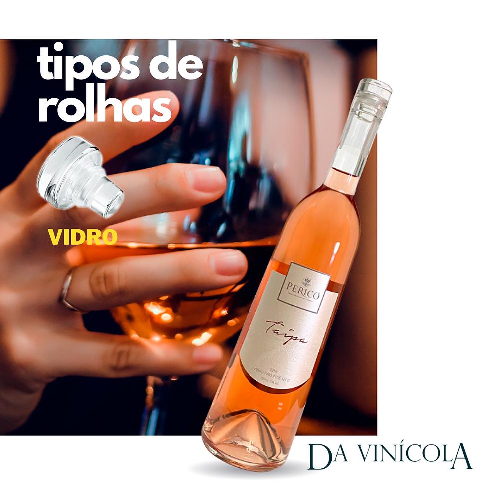 ROLHA DE VIDRO PARA VINHOS