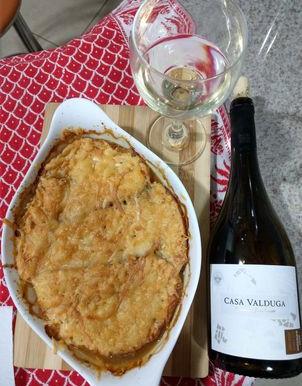 Dois clássicos do Vale do Rhône pra você: Viognier + Sopa de Cebola
