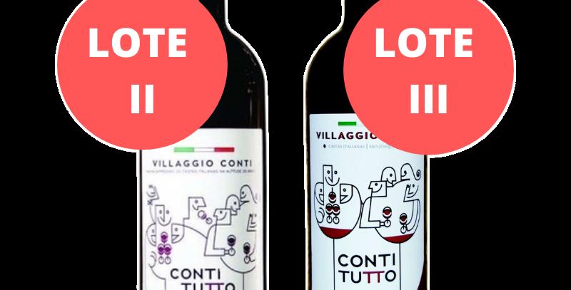 Degustação Vertical Villaggio Conti Conti Tutto Lotes II e III