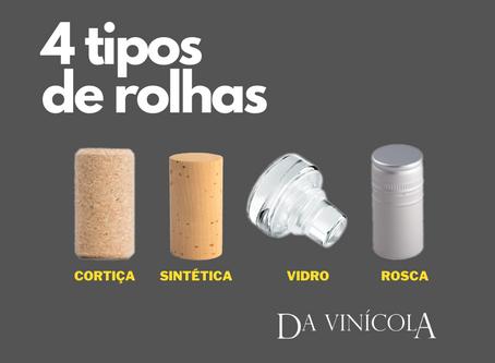 Tipos de rolhas de vinhos