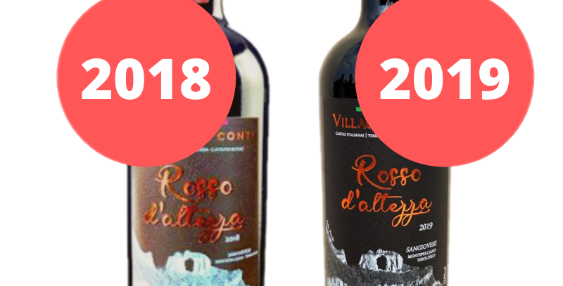 Degustação Vertical Villaggio Conti Rosso D'Altezza Safras 2018 e 2019