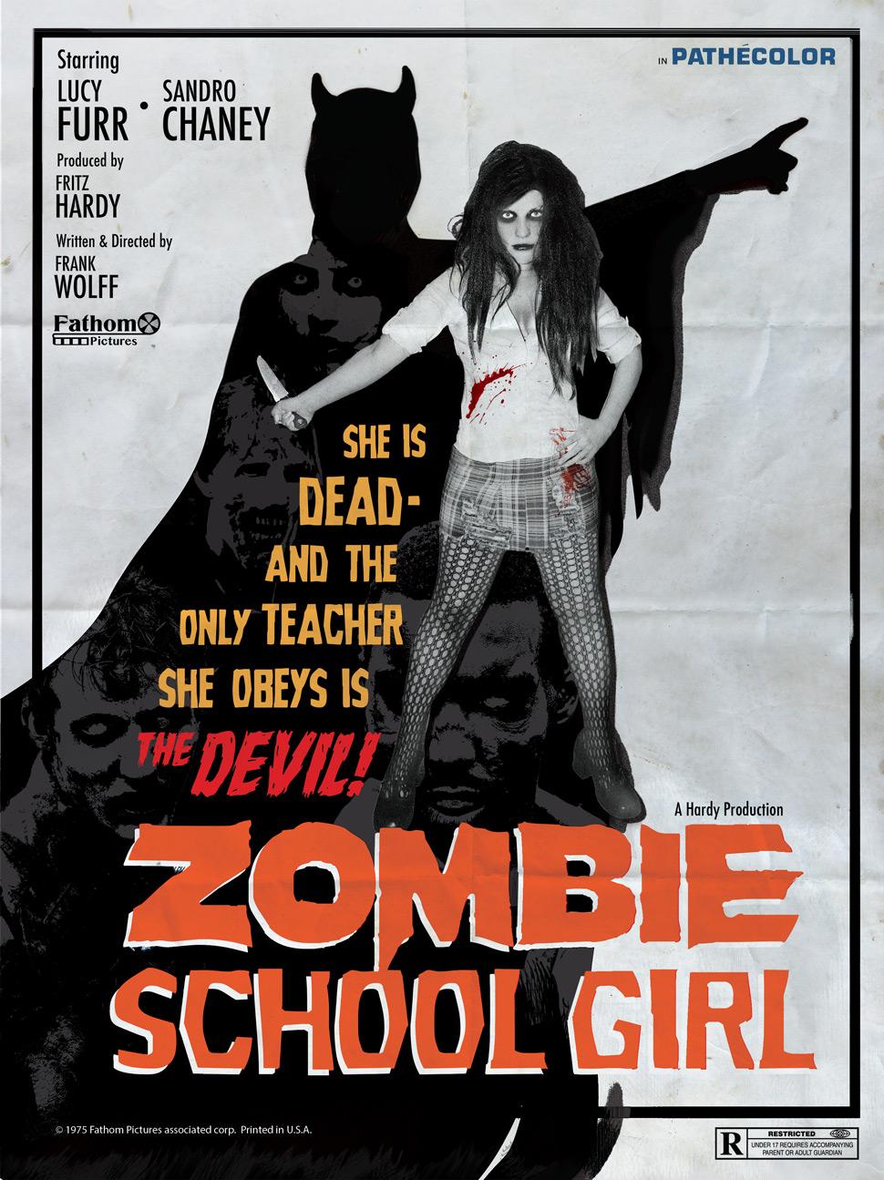 Zombie School Girl Poster