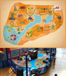 Nickelodeon Land Map
