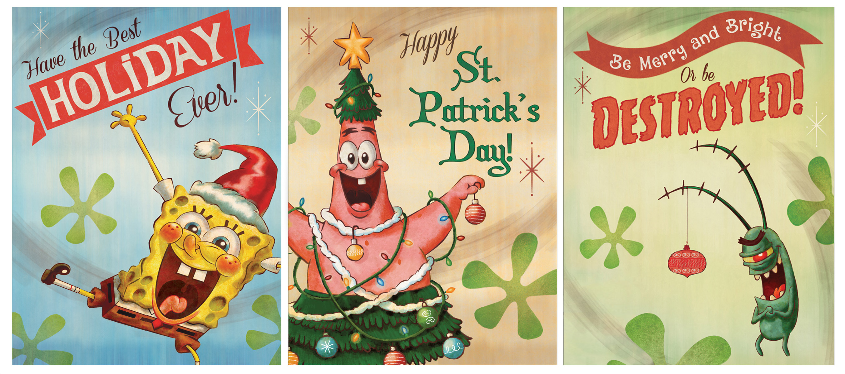 SpongeBob at Ice Land Christmas posters