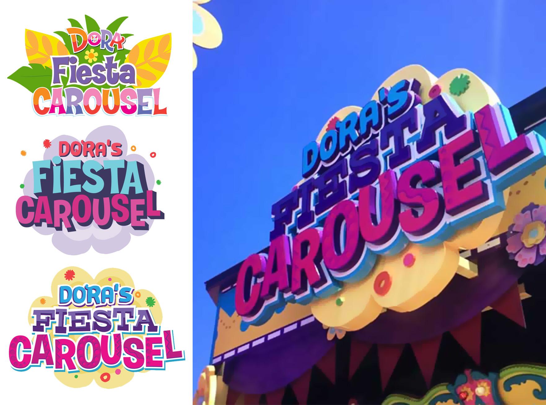 Dora's Fiesta Carousel I.D. sign