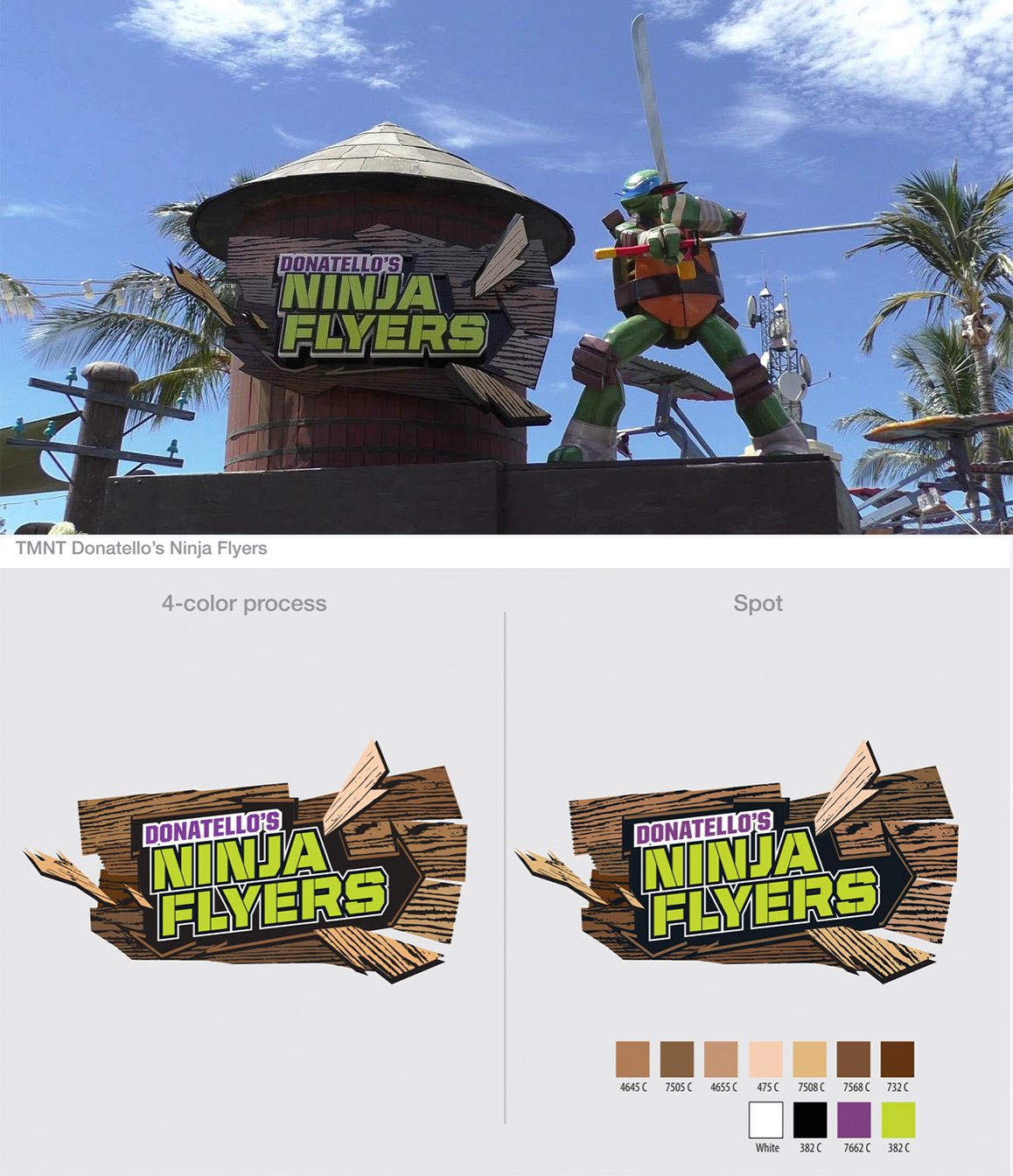 TMNT Ninja Flyers I.D. Sign