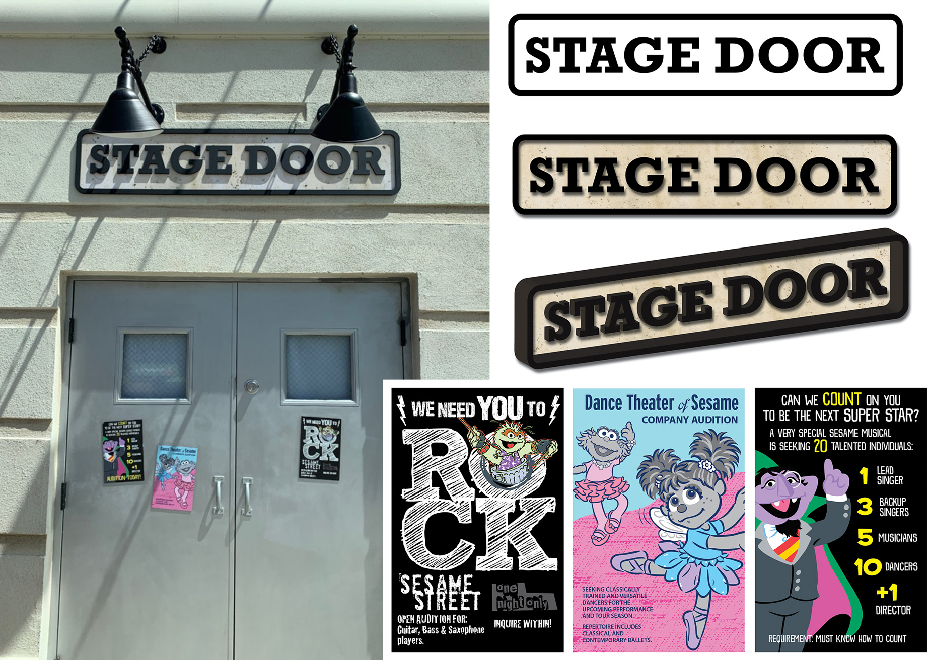 Theater Building and Audition Flyers